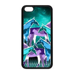 Horses Under A Galaxy Apple Iphone 5c Seamless Case (black) by DanaeStudio