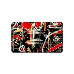 Artistic Abstract Pattern Magnet (name Card) by Valentinaart