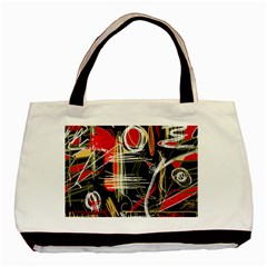 Artistic Abstract Pattern Basic Tote Bag by Valentinaart
