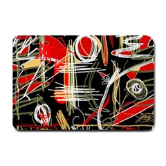 Artistic Abstract Pattern Small Doormat  by Valentinaart