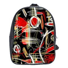 Artistic Abstract Pattern School Bags(large)  by Valentinaart