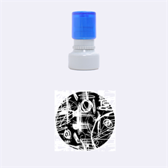 Artistic Abstract Pattern Rubber Round Stamps (small) by Valentinaart