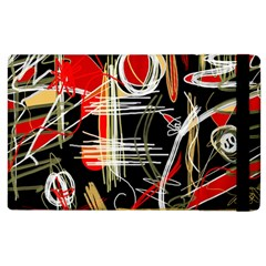 Artistic Abstract Pattern Apple Ipad 2 Flip Case
