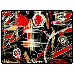 Artistic Abstract Pattern Double Sided Fleece Blanket (large)  by Valentinaart