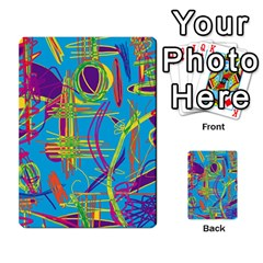 Colorful Abstract Pattern Multi Purpose Cards (rectangle)  by Valentinaart