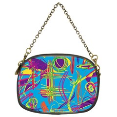 Colorful Abstract Pattern Chain Purses (two Sides)  by Valentinaart