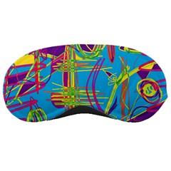Colorful Abstract Pattern Sleeping Masks by Valentinaart