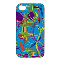 Colorful Abstract Pattern Apple Iphone 4/4s Hardshell Case