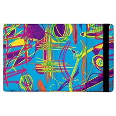 Colorful Abstract Pattern Apple Ipad 2 Flip Case by Valentinaart