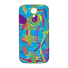 Colorful Abstract Pattern Samsung Galaxy S4 I9500/i9505  Hardshell Back Case by Valentinaart
