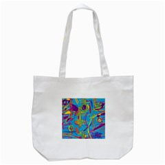Colorful Abstract Pattern Tote Bag (white)