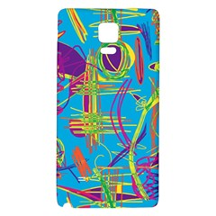 Colorful Abstract Pattern Galaxy Note 4 Back Case by Valentinaart