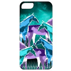 Horses Under A Galaxy Apple Iphone 5 Classic Hardshell Case