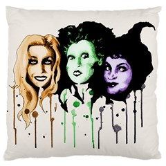 The Sanderson Sisters  Large Cushion Case (two Sides) by lvbart