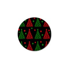 Decorative Christmas Trees Pattern Golf Ball Marker (10 Pack)
