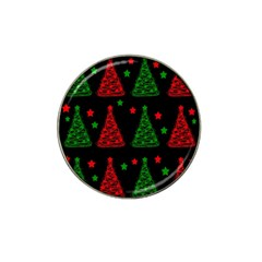 Decorative Christmas Trees Pattern Hat Clip Ball Marker (4 Pack) by Valentinaart