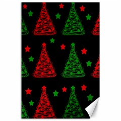 Decorative Christmas Trees Pattern Canvas 24  X 36  by Valentinaart