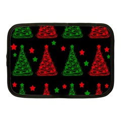 Decorative Christmas Trees Pattern Netbook Case (medium)  by Valentinaart