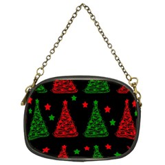 Decorative Christmas Trees Pattern Chain Purses (one Side)  by Valentinaart