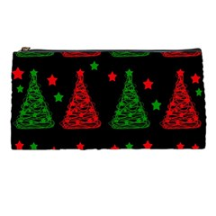 Decorative Christmas Trees Pattern Pencil Cases by Valentinaart