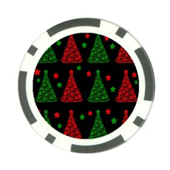 Decorative Christmas Trees Pattern Poker Chip Card Guards (10 Pack)  by Valentinaart