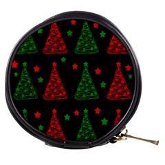 Decorative Christmas Trees Pattern Mini Makeup Bags by Valentinaart