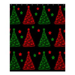 Decorative Christmas Trees Pattern Shower Curtain 60  X 72  (medium)  by Valentinaart