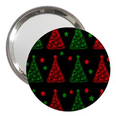 Decorative Christmas Trees Pattern 3  Handbag Mirrors by Valentinaart
