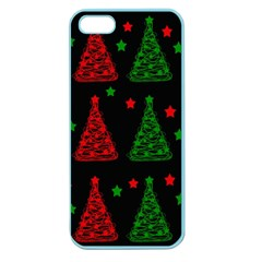 Decorative Christmas Trees Pattern Apple Seamless Iphone 5 Case (color) by Valentinaart