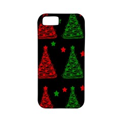 Decorative Christmas Trees Pattern Apple Iphone 5 Classic Hardshell Case (pc+silicone) by Valentinaart