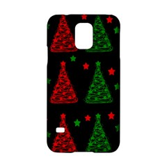 Decorative Christmas Trees Pattern Samsung Galaxy S5 Hardshell Case  by Valentinaart