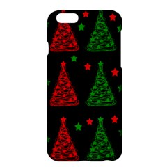Decorative Christmas Trees Pattern Apple Iphone 6 Plus/6s Plus Hardshell Case by Valentinaart