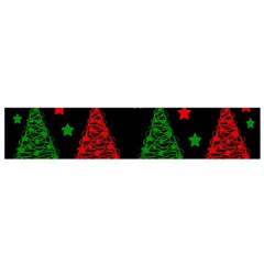 Decorative Christmas Trees Pattern Flano Scarf (small)