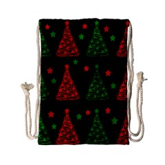 Decorative Christmas Trees Pattern Drawstring Bag (small) by Valentinaart