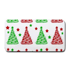 Decorative Christmas Trees Pattern   White Medium Bar Mats by Valentinaart