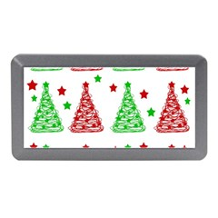 Decorative Christmas Trees Pattern   White Memory Card Reader (mini) by Valentinaart