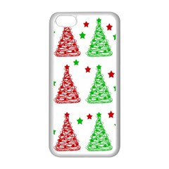 Decorative Christmas Trees Pattern   White Apple Iphone 5c Seamless Case (white) by Valentinaart