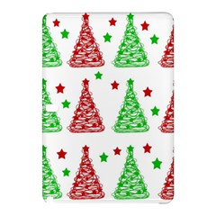 Decorative Christmas Trees Pattern   White Samsung Galaxy Tab Pro 12 2 Hardshell Case by Valentinaart