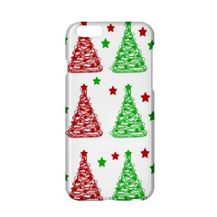 Decorative Christmas Trees Pattern   White Apple Iphone 6/6s Hardshell Case by Valentinaart
