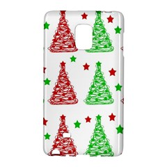 Decorative Christmas Trees Pattern   White Galaxy Note Edge
