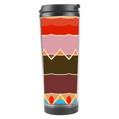 Waves And Other Shapes                                                                                                    Travel Tumbler by LalyLauraFLM
