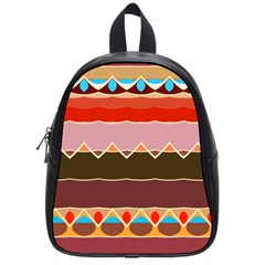 Waves And Other Shapes                                                                                                    			school Bag (small) by LalyLauraFLM