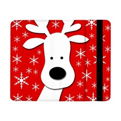 Christmas Reindeer   Red Samsung Galaxy Tab Pro 8 4  Flip Case by Valentinaart