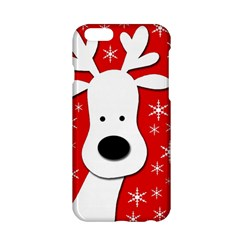 Christmas Reindeer   Red Apple Iphone 6/6s Hardshell Case by Valentinaart