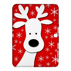 Christmas Reindeer   Red Samsung Galaxy Tab 4 (10 1 ) Hardshell Case  by Valentinaart
