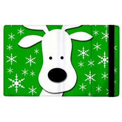 Christmas Reindeer   Green Apple Ipad 2 Flip Case