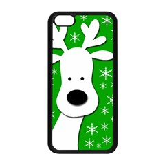Christmas Reindeer   Green Apple Iphone 5c Seamless Case (black) by Valentinaart