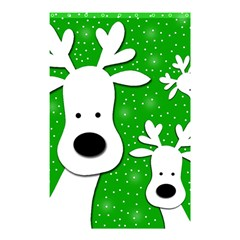 Christmas Reindeer   Green 2 Shower Curtain 48  X 72  (small)  by Valentinaart
