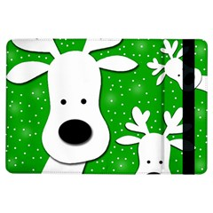 Christmas Reindeer   Green 2 Ipad Air Flip by Valentinaart