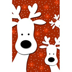 Christmas Reindeer   Red 2 5 5  X 8 5  Notebooks by Valentinaart